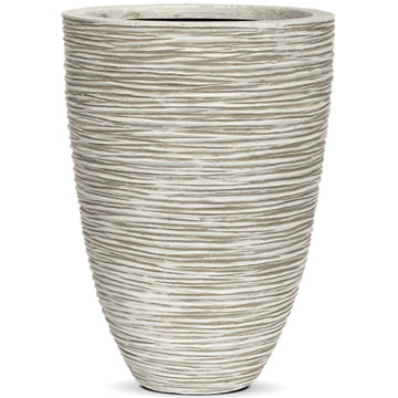 Кашпо Capi Nature Vase elegant low Rib